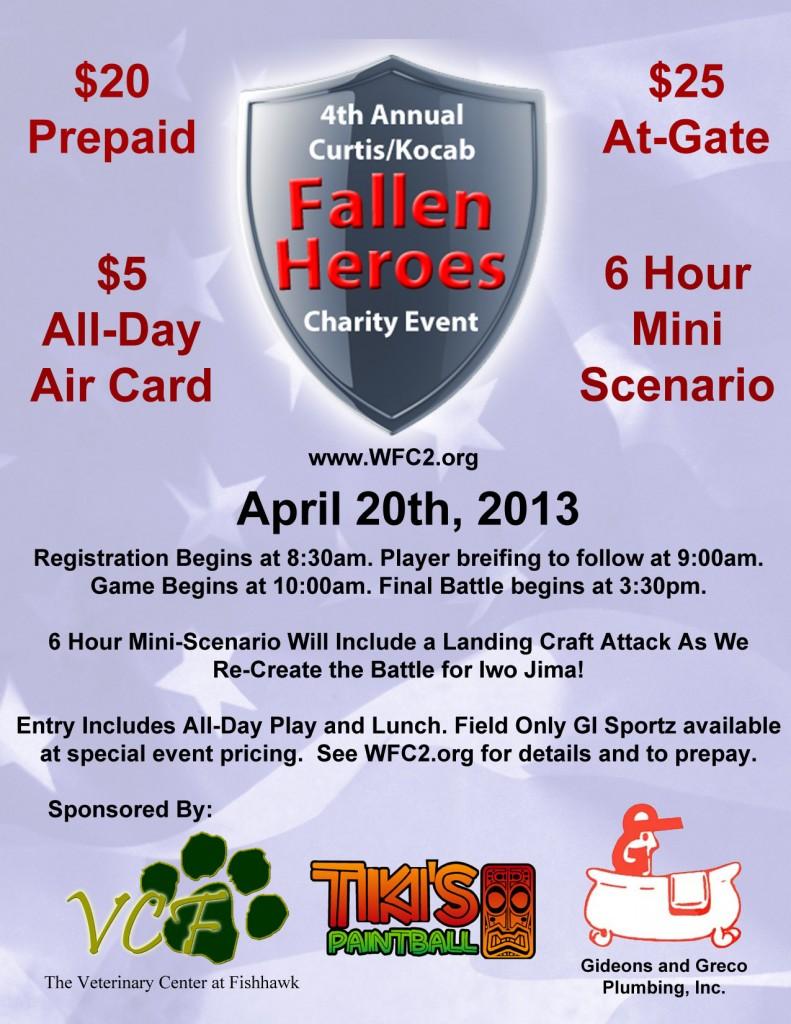 fallen heroes 2013 flyer